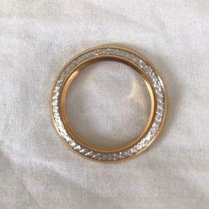 Gucci Gold Diamond Cut Interchangeable Bezel
